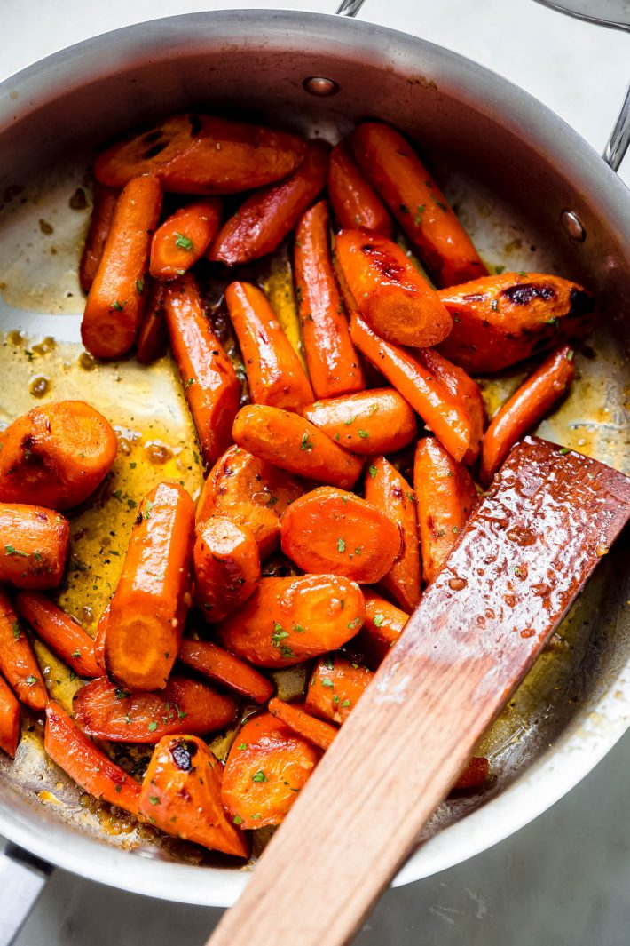 roasted carrot tossed in garlic butter sauce