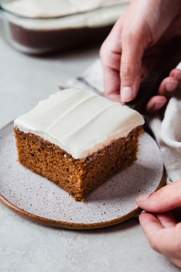 Warm & Cozy Spice Cake with Cream Cheese Frosting