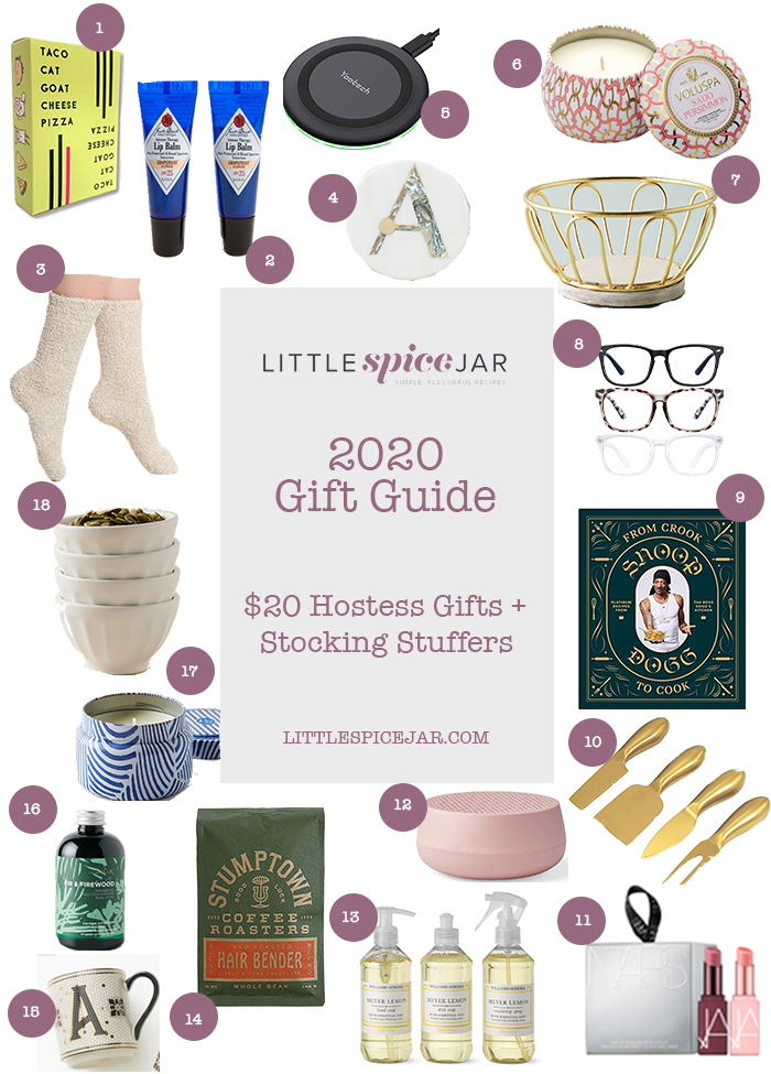 gift guide $20 hostess gifts and stocking stuffers