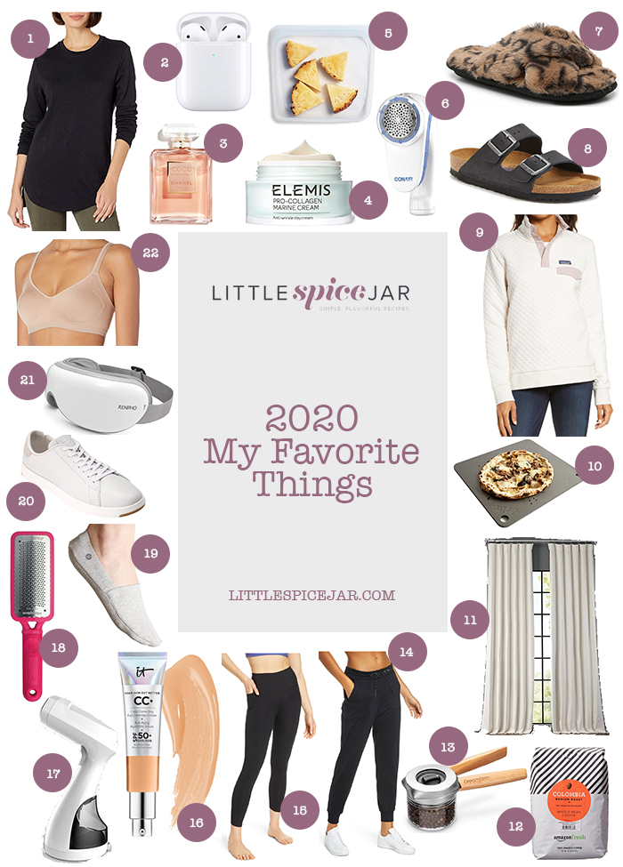 collage image with all the items in my 2020 my favorite things list