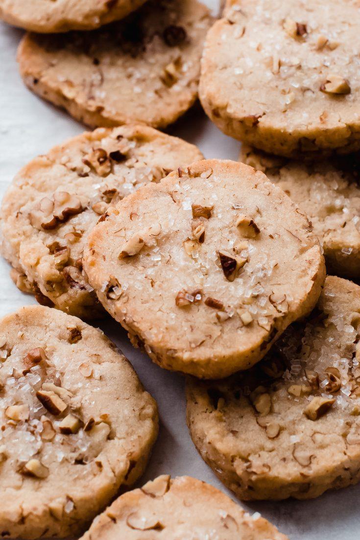Easy Maple Pecan Shortbread Cookies