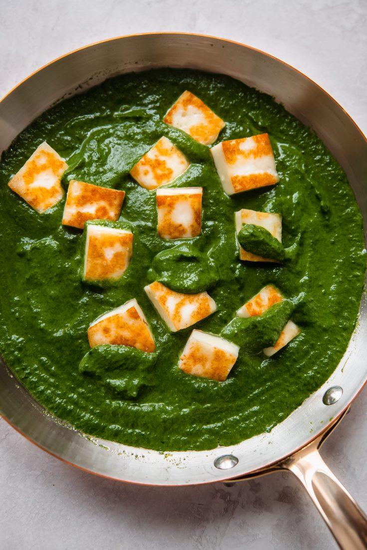 Best Garlicky Palak Paneer (Saag Paneer)