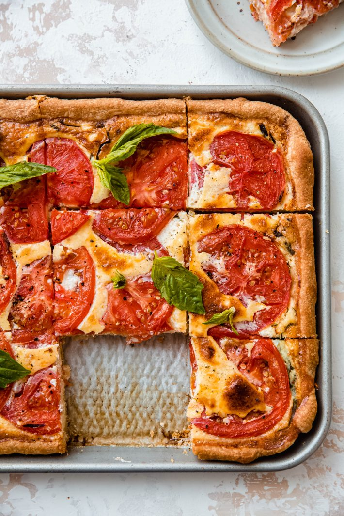 missing quiche square from sheet pan