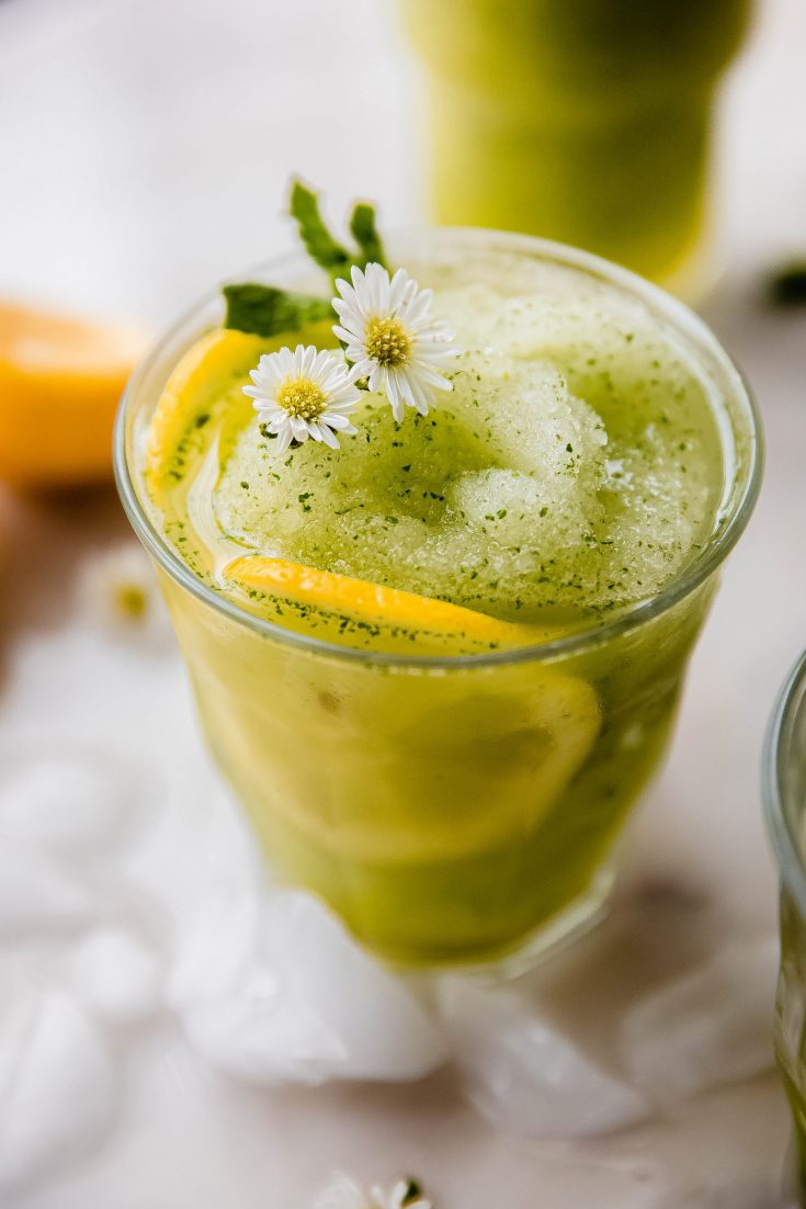 Most Refreshing Frozen Mint Lemonade (Limonana)