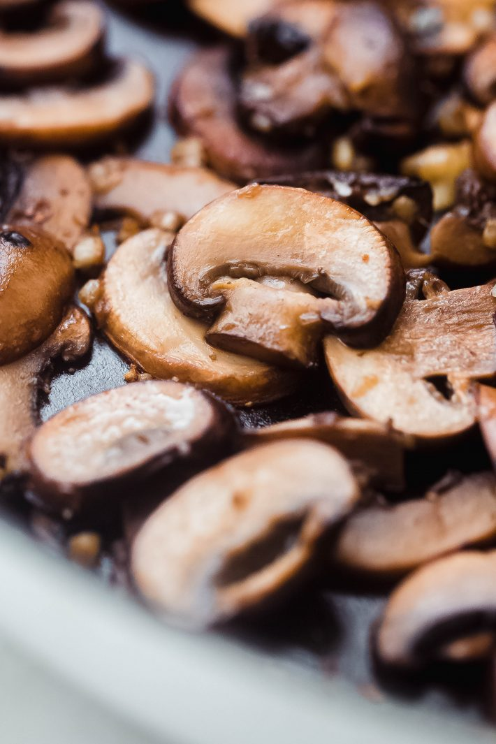 sautéed mushrooms in pan