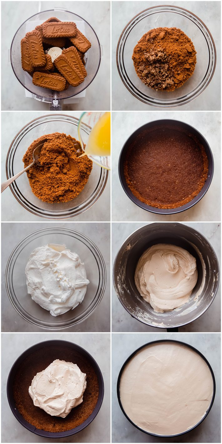 crushed cookie crust and how to make cheesecake filling