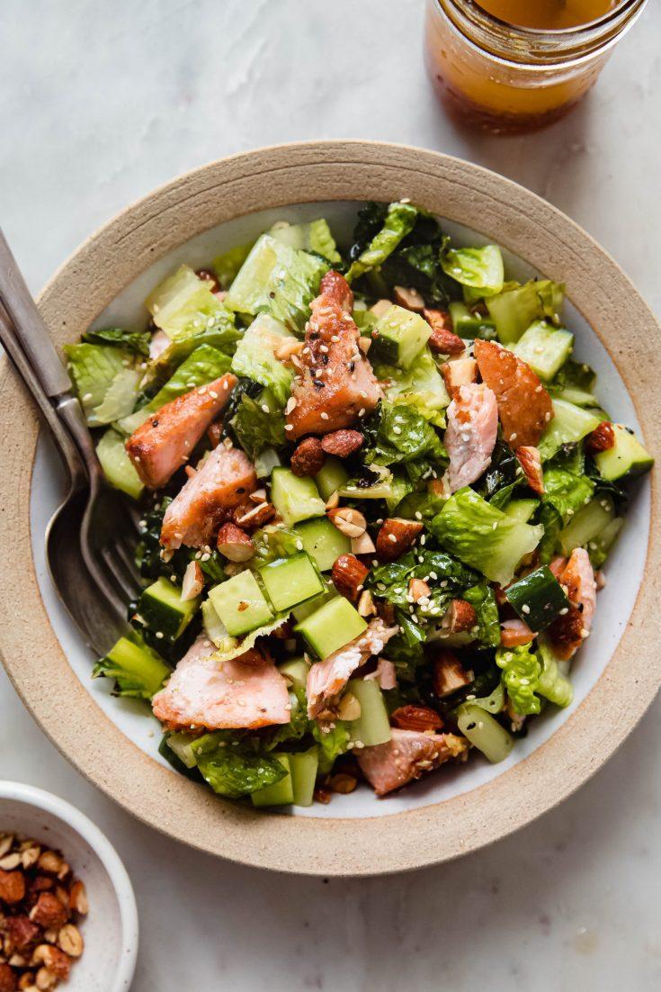 Smoky Chopped Sesame Ginger Salmon Salad