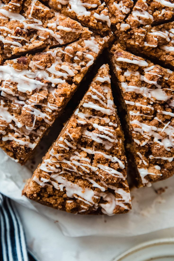 Brown Butter Cinnamon Pecan Coffee Cake