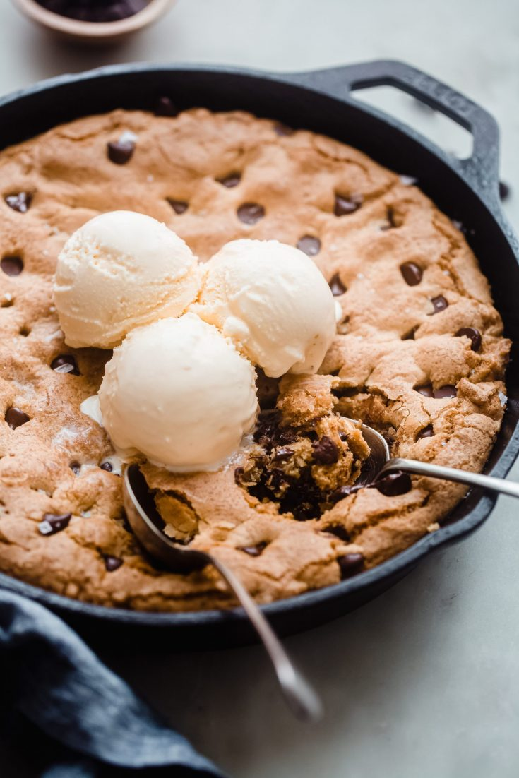 Giant Skillet Chocolate Chip Cookie
