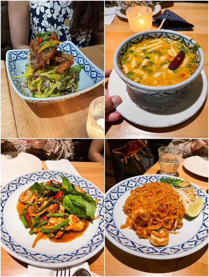 food we ordered at Thai Villa