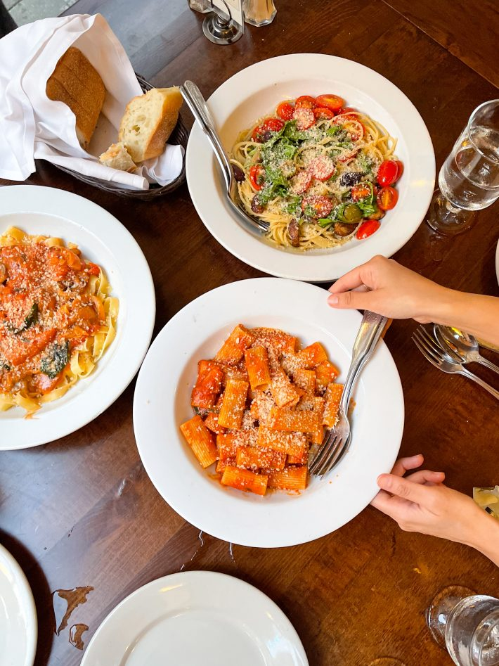 Food we ordered at Il Cortile