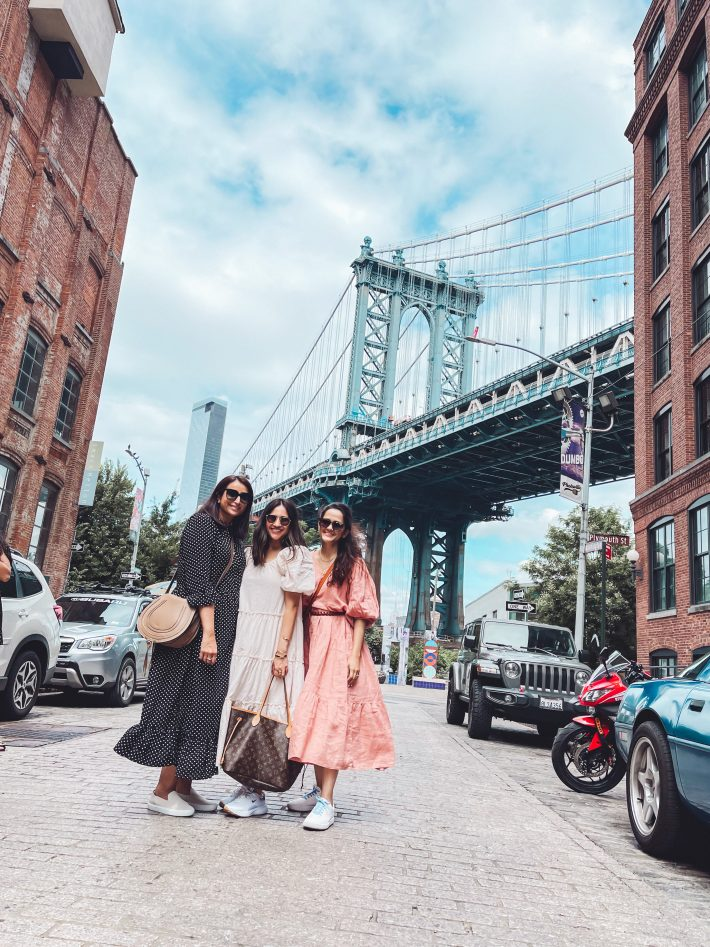 picture of three girls outside dumbo