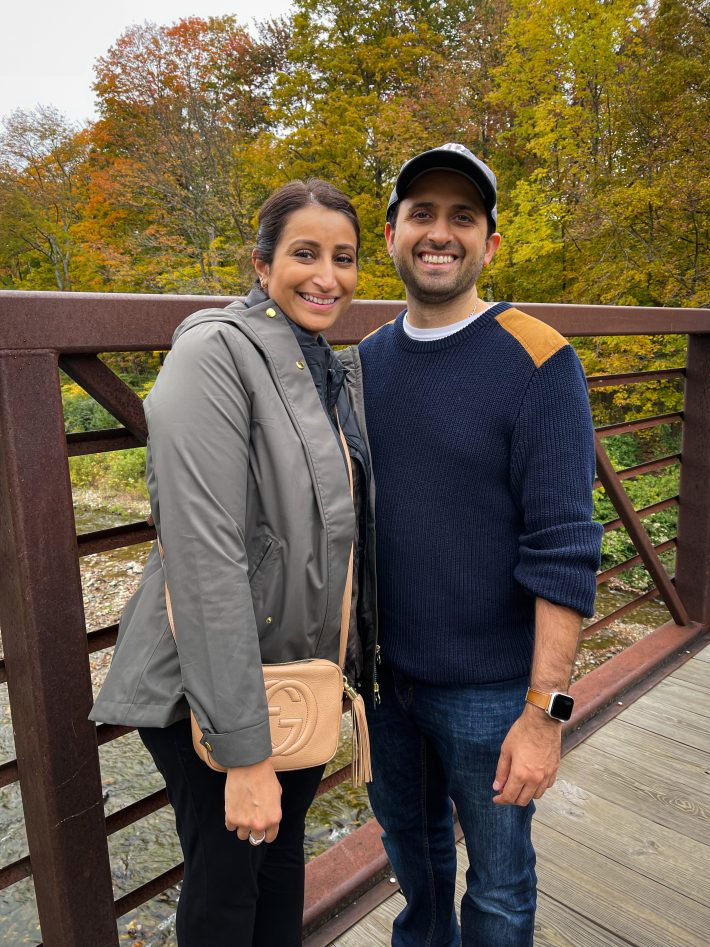 Hubby and I at stowe recreation path